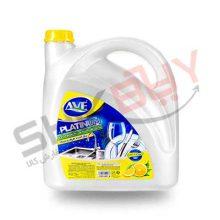 مایع ظرفشویی پلاتینیوم لیمویی ۳۷۵۰ گرمی۴عددی AVE