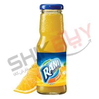 نوشیدنی ۲۰۰سی سی شیشه ای پرتقالی