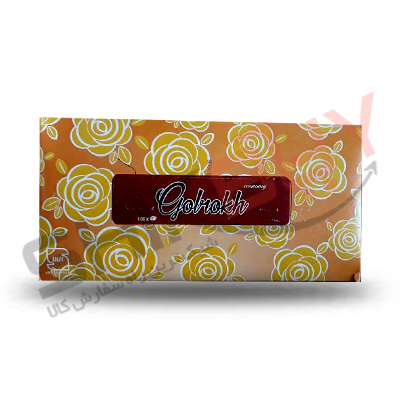 دستمال کاغذی جعبه ای ۲۰۰برگ گلرخ