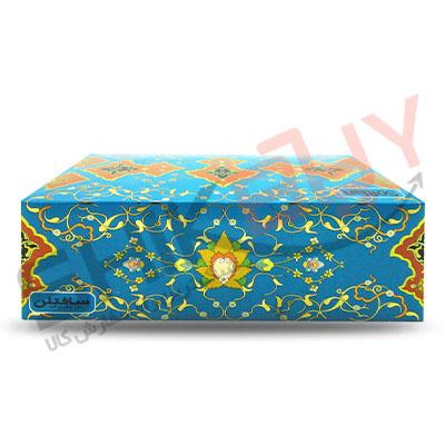 دستمال کاغذی جعبه ای ۱۵۰برگ دولایه سافتلن